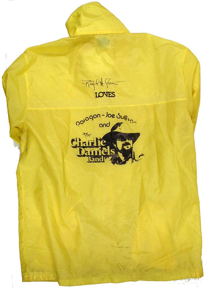 Charlie Daniels Men's Vintage Jacket reverse side