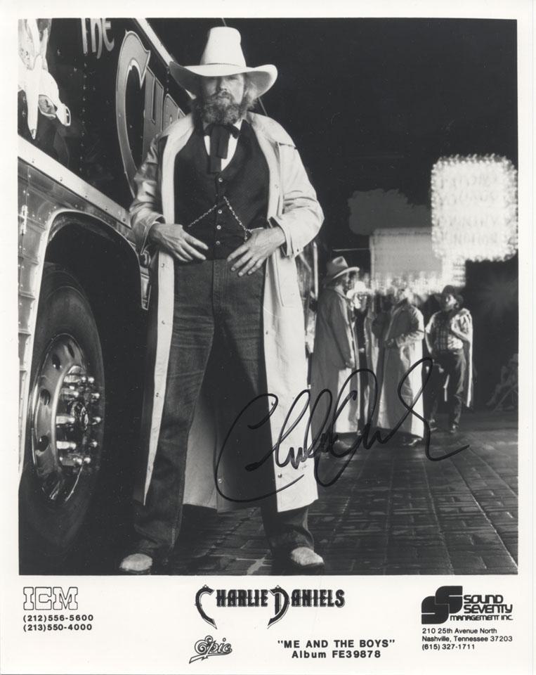 Charlie Daniels Promo Print