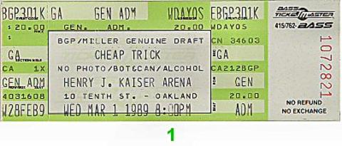 Cheap Trick Vintage Ticket