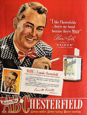 Chesterfield Cigarettes: Always Buy Chesterfield Vintage Ad