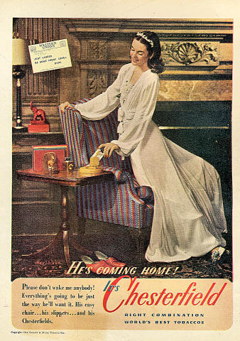 Chesterfield Cigarettes Vintage Ad