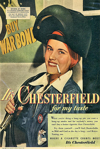 Chesterfield: For My Taste Vintage Ad