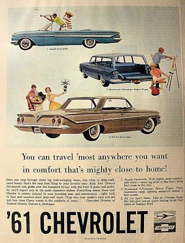 Chevrolet: Impala / Brookwood / Bel Air Vintage Ad