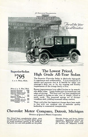 Chevrolet: Superior Sedan Vintage Ad