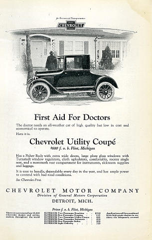 Chevrolet: Utility Coupe Vintage Ad
