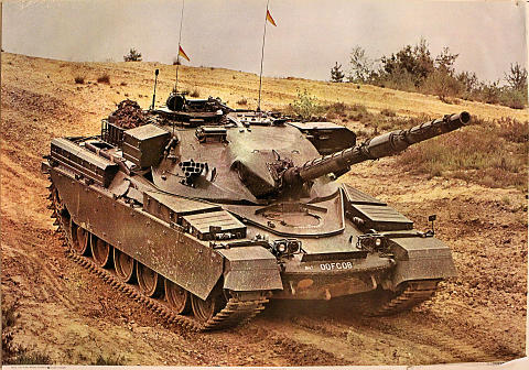 Chieftain Tank at Deepcut, July 1971 Poster