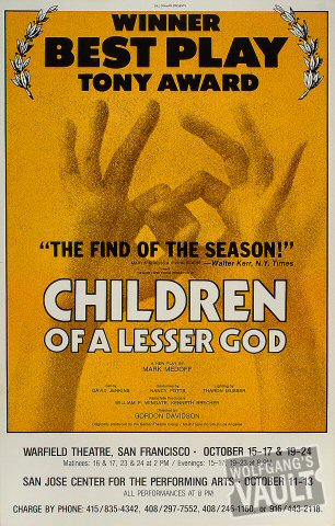 Children of a Lesser God Poster