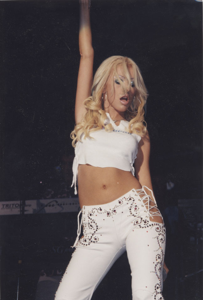 Christina Aguilera Vintage Print