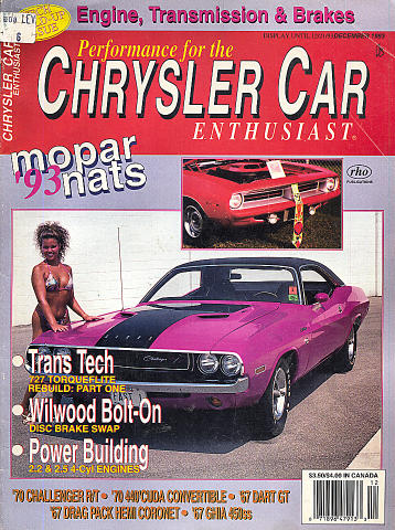 Chrysler Car Enthusiast Vol. 10 No. 6 Magazine