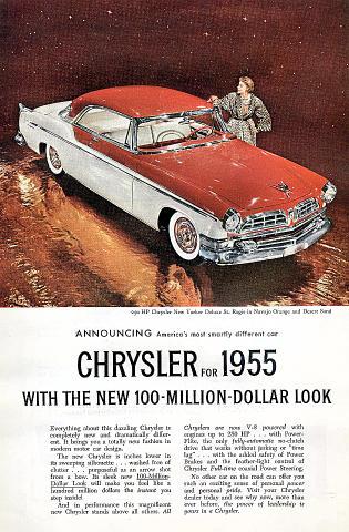 Chrysler New Yorker Deluxe St. Regis Vintage Ad