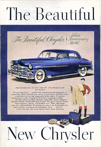 Chrysler New Yorker Sedan Vintage Ad