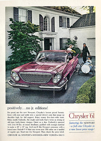 Chrysler Newport: Positively...No Jr. Editions! Vintage Ad