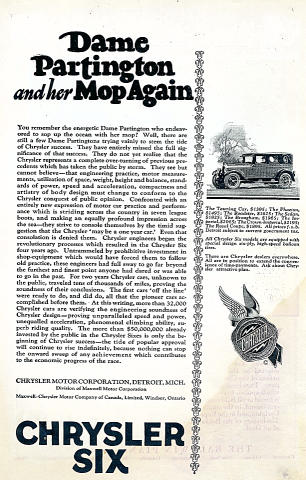 Chrysler Six Vintage Ad