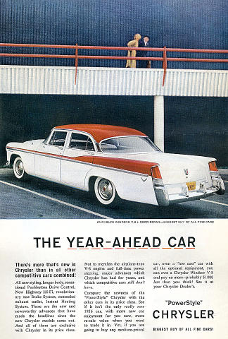 Chrysler Windsor V-8 Sedan Vintage Ad