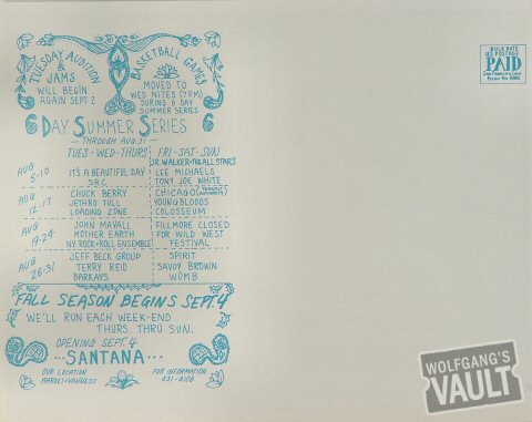 Chuck Berry Postcard reverse side