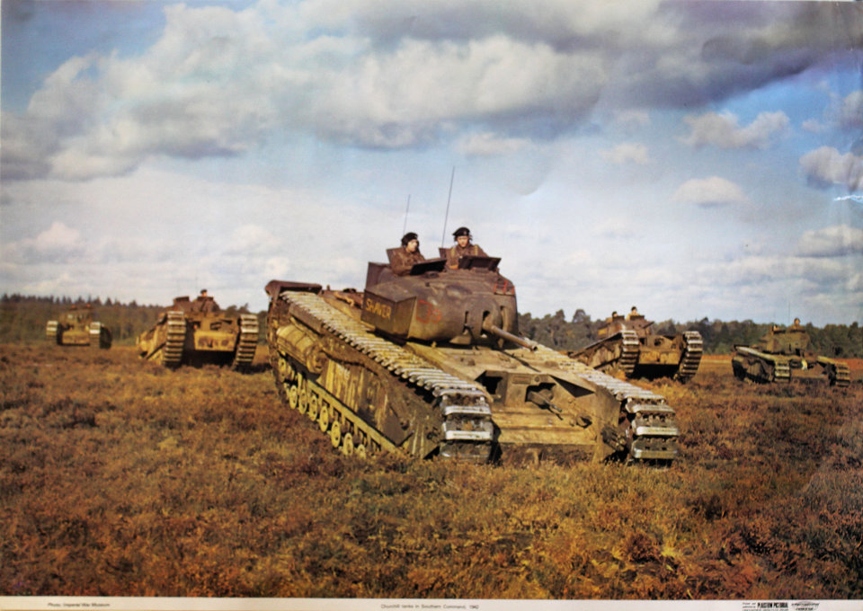 Churchill tanks in Southern Command, 1942 Poster