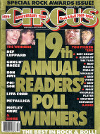 Circus Magazine Special Rock Awards Issue February 1989 Magazine
