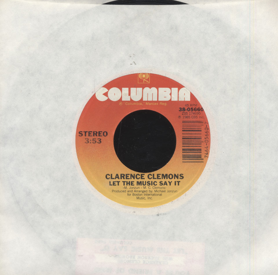 """Clarence Clemons Vinyl 7"""" (Used)"""
