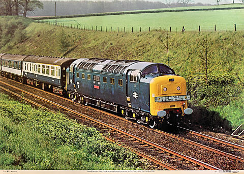 Class 55 Deltic No. 55012 Crepello Poster
