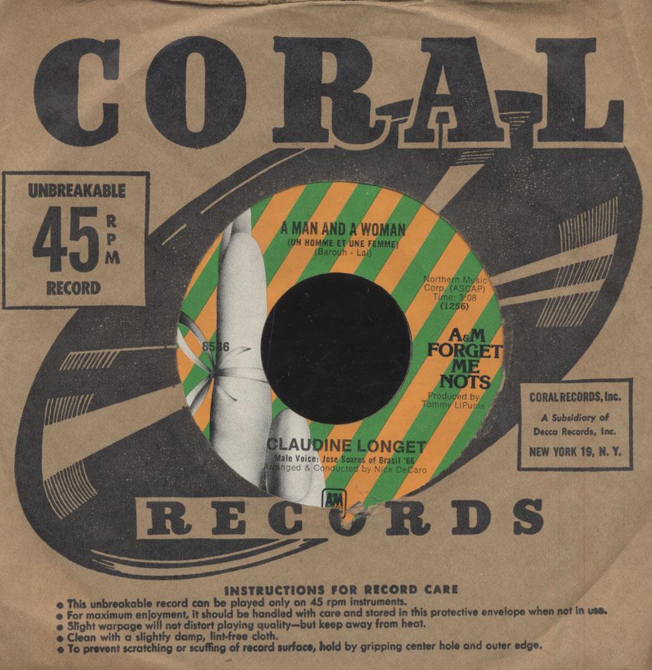 "Claudine Longet Vinyl 7"" (Used)"
