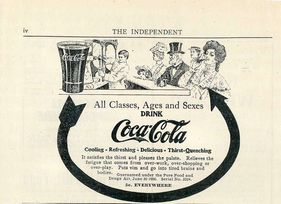 Coca-Cola: All Classes, Ages And Sexes Vintage Ad