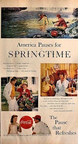 Coca-Cola: America Pauses For Springtime Vintage Ad