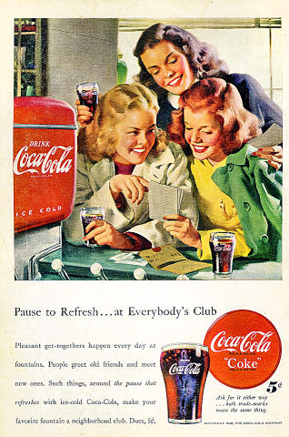 Coca-Cola: ...At Everybody's Club Vintage Ad