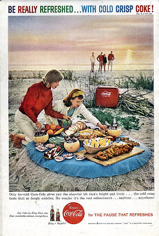 Coca-Cola: Be Really Refreshed...With Cold Crisp Coke! Vintage Ad