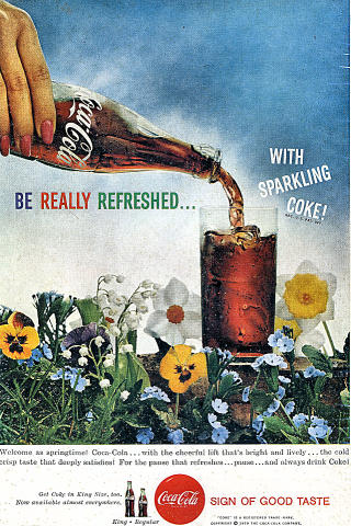 Coca-Cola: Be Really Refreshed...With Sparkling Coke! Vintage Ad