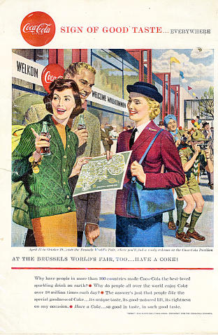 Coca-Cola: Brussels World's Fair Vintage Ad