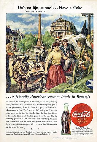 Coca-Cola: Brussels Vintage Ad