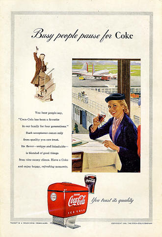 Coca-Cola: Busy People Pause For Coke Vintage Ad