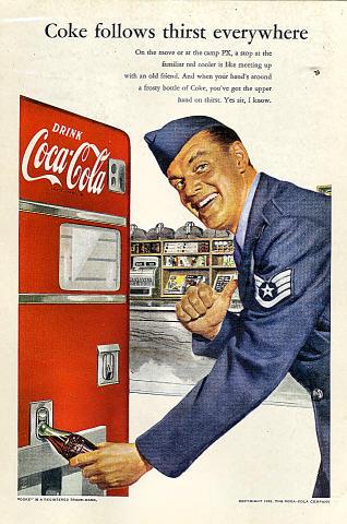 Coca-Cola: Coke Follows Thirst Everywhere Vintage Ad
