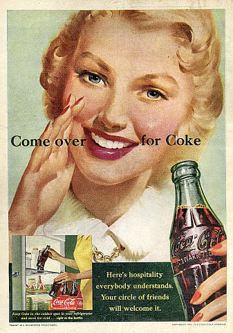 Coca-Cola: Come Over For Coke Vintage Ad