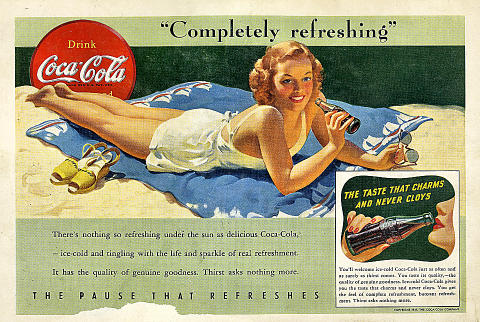 "Coca-Cola: ""Completely Refreshing"" Vintage Ad"
