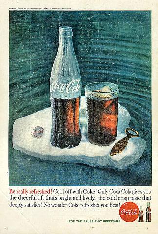 Coca-Cola: Cool Off With Coke! Vintage Ad