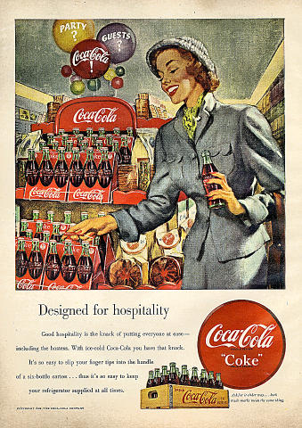 Coca-Cola: Designed For Hospitality Vintage Ad