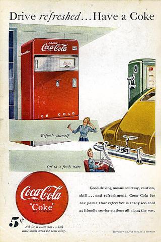 Coca-Cola: Drive Refreshed... Vintage Ad