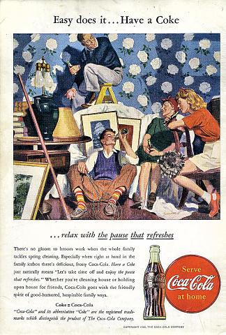 Coca-Cola: Easy Does It...Have A Coke Vintage Ad