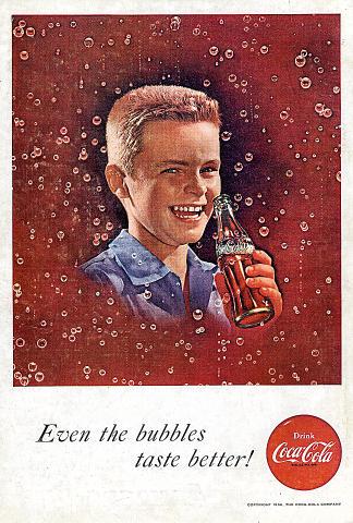 Coca-Cola: Even The Bubbles Taste Better! Vintage Ad
