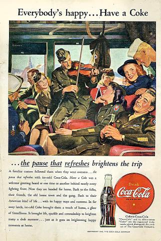 Coca-Cola: Everybody's Happy...Have A Coke Vintage Ad