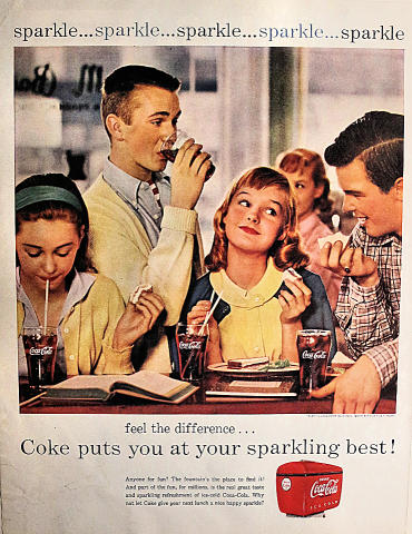 Coca-Cola: Feel The Difference... Vintage Ad
