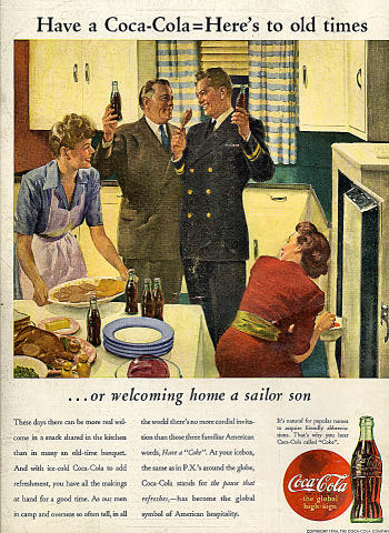 Coca-Cola: Here's To Old Times Vintage Ad