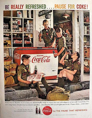 Coca-Cola: Hiking's More Fun Vintage Ad
