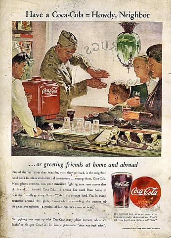 Coca-Cola: Howdy, Neighbor Vintage Ad