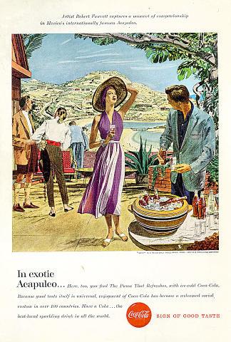 Coca-Cola: In Exotic Acapulco Vintage Ad