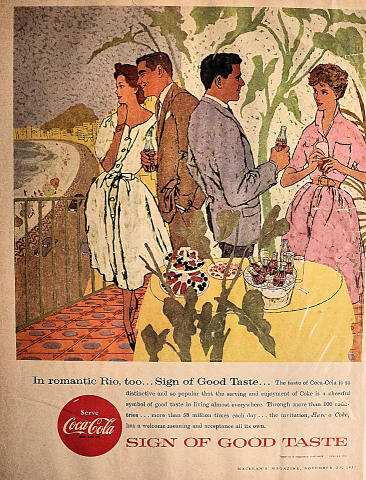 Coca-Cola: In Romantic Rio, Too... Vintage Ad