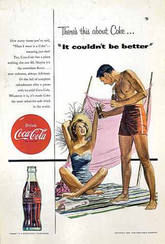 "Coca-Cola: ...""It Couldn't Be Better"" Vintage Ad"