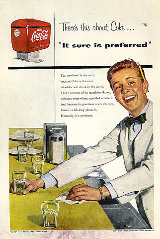 "Coca-Cola: ""It Sure Is Preferred"" Vintage Ad"