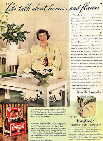 """Coca-Cola: """"Let's Talk About Homes...And Flowers"""" Vintage Ad"""
